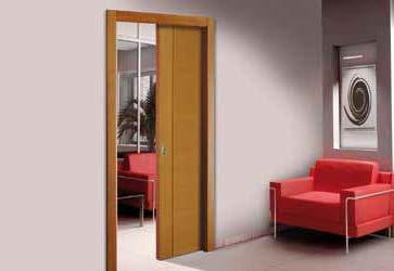 Puerta corrediza tradicional abaroa amoblamientos y for Modelos de puertas corredizas de madera